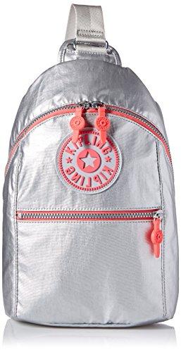 Kipling Bente Platinum Metallic Sport Sling Backpack, m