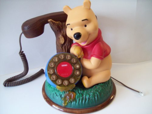 (Vintage Disney Winnie the Pooh Pushbutton Phone By Telemania)