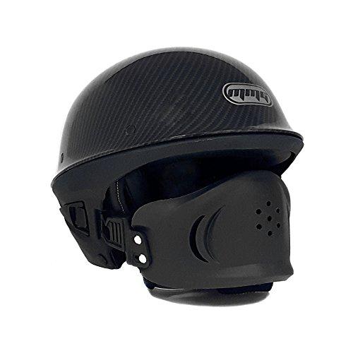 Motorcycle Vader Street Half Helmet DOT Approved - Carbon Fiber (Large)