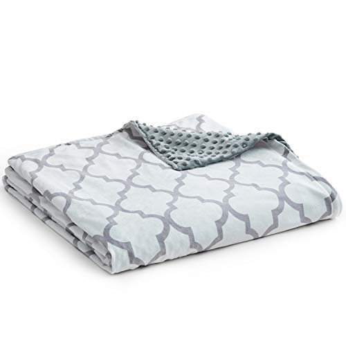 YnM Minky Duvet Cover for Weighted Blankets (60''x80'') - Lattice Scroll Print