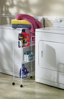 Cart 3-Tier Utility Stlfrm Wht