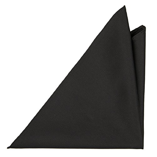 Square pure black structure Silk Men's Minimal Pocket Notch in square FtqAnPww7