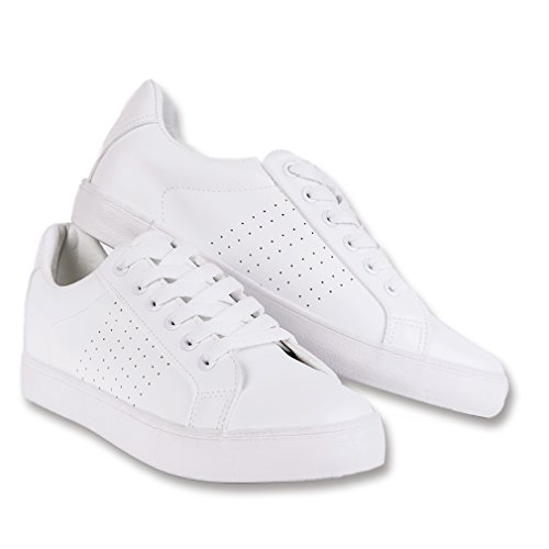 Lantina Women Sneakers Casual Low Top Sneaker White Ladies Walking Tennies Shoes (White Ladie Training)