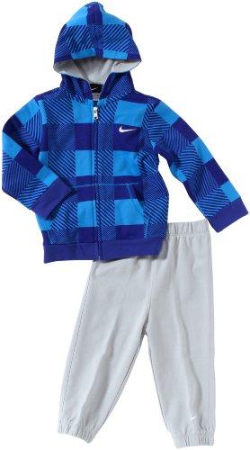 Nike Kinder Trainingsanzug Hoody Knit Warm Up Blau (Navy/gym Red/vivid Sulfur/whit 403)