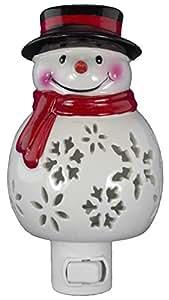 "Opportunity - 5"" Ceramic Plug-in Nightlight - Snowman"