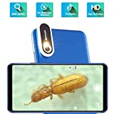 TINYSCOPE Mobile Microscope, 20 to 400x Magnification, Turn Your Cell Phone into a Portable Microscope in Seconds, with No Need for Batteries, Power Cords, or USB Cables.