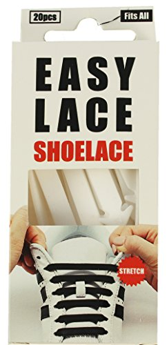 Easy Lace, Flat - Boxed Unisex-Adult, Silicone Laces - White (White 110), One size