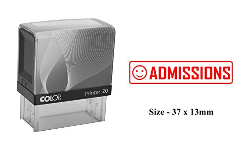 ADMISSIONS Self Inking Rubber Stamp Custom Colop Office Stationary Stamp ()