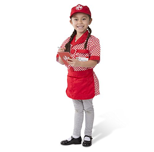 Dress Up Pretend Play Images On: Melissa & Doug Server Role Play Costume Dress-Up Set With