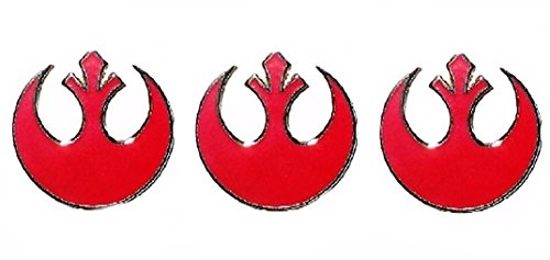Star Wars Small Red Color Rebel Alliance Symbol Metal Pin Set of 3 Pins -