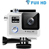 Sports Camera - HEIHEI F88BR 1080P FHD Dual Screen 170 Degree Adjustable Wide Angle Lens Action Camera Diving Cam DV Camcorder with Accessories Kit