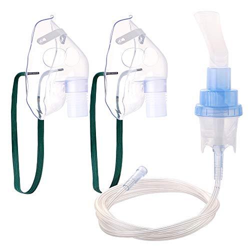 RoyAroma 2PCS Adult Masks, Accessories Kit for Cool Mist Inhaler Compressor System, Soft Tubing Soft Mask
