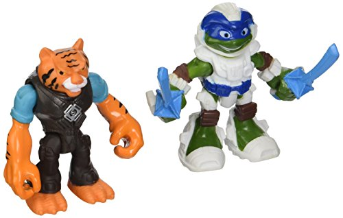 Teenage Mutant Ninja Turtles Half Shell Heroes Space Leonardo and Tiger Claw Basic 2.5