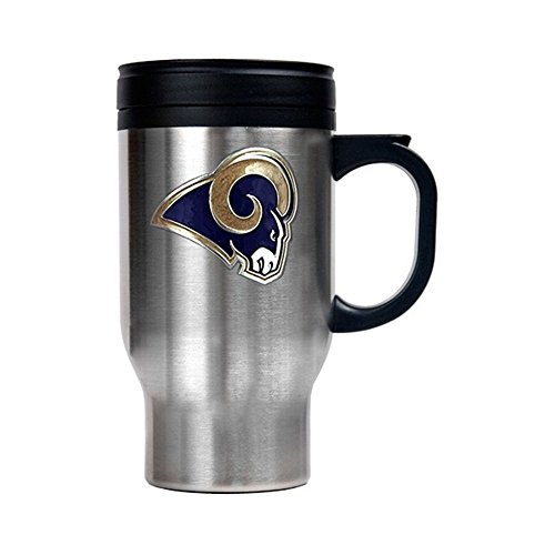 (Jewelry Adviser Nfl Gifts NFL St. Louis Rams 16oz Stainless Steel Travel Mug)