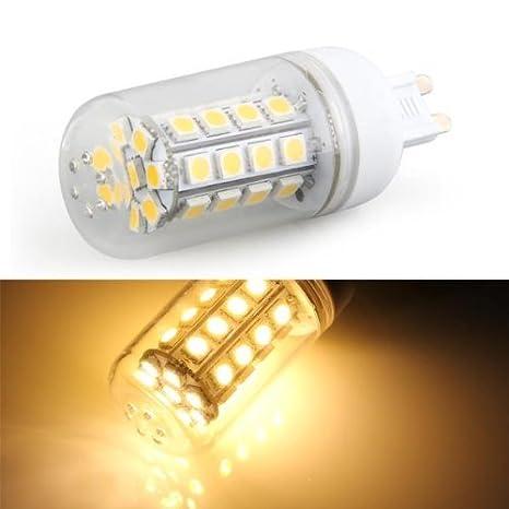 TOOGOO (R) G9 7W 36 LED 3528 SMD Lampara Bombilla Foco 3000K Luz Blanco Calido AC220V 320LM: Amazon.es: Iluminación