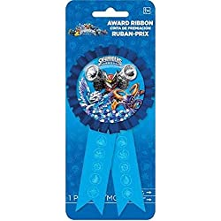 "Amscan Swashbuckling Skylanders Confetti Pouch Birthday Party Game Award Ribbon Favors (1 Piece), 5 3/4"" x 3 1/8"", Blue"