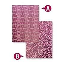 "Spellbinders M-Bossabilities Twisted Hearts 5x7"" Reversible Embossing folder"