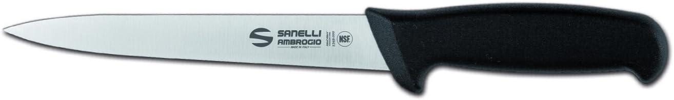 Sanelli Ambrogio Supra Filiermesser flexibel 18cm Edelstahl schwarz und Stahl 35x 6x 3cm