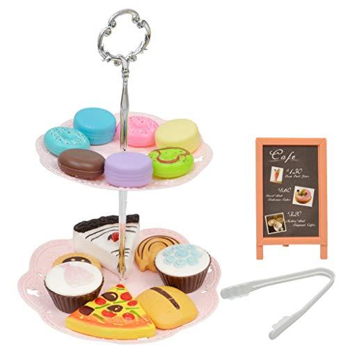 - Nesee Kids Pretend Toy Simulation Mini Macaron Dessert Tower Shop Pretend Play Set for Kids Birthday Festival Gift