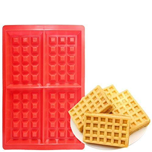 (1 piece 1Pcs Waffle Mold 5-Cavity Heart Shape/4-Hold Square Silicone Oven Pan Baking Cookie Cake Muffin Cake Tools Kitchen Accessories)
