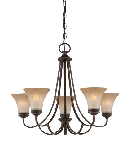 Quoizel ALZ5005PN Aliza 5 Light Chain Hung Chandelier, 22.5