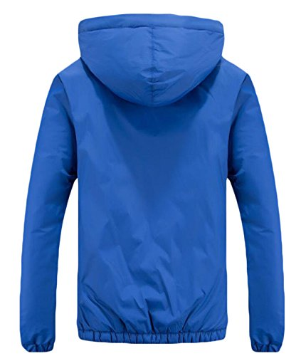XS Down Hooded Fashion Jacket Heavyweight Mens EKU Blue Royal Thicken US vfqHwC