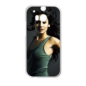 Natalie Imbruglia Australian Model Actress funda HTC One M8 caja funda del teléfono celular del teléfono celular blanco cubierta de la caja funda EVAXLKNBC25257