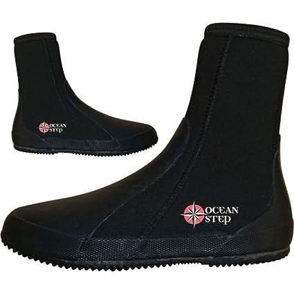 Zapatillas marca acuático Neo Boots 5 mm Ocean Step Black/Fluo ...