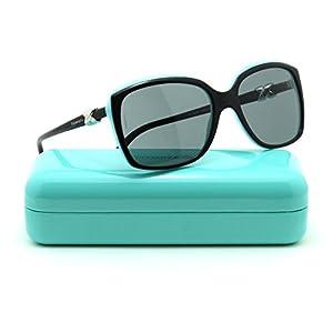 Tiffany & Co. TF 4076 Womens Square Sunglasses Black/Blue 80553F