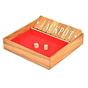Brain Games Shut The Box Classic Wooden Family Board Games, Large 2