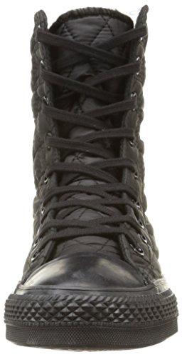 Converse Star Hi Rise Textile Quilt Herren High-Top Schwarz (Black)