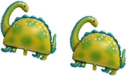 Colcolo パーティー装飾誕生日ギフト子供のおもちゃのための2本の恐竜インフレータブルバルーン - 2個