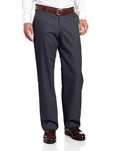 Lee Men's Total Freedom Relaxed Fit Flat Front Pant - 32W x 34L - Navy