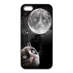 Cute Grumpy Cat Custom Phone Case For iPhone 5S Hard Case Cover Skin