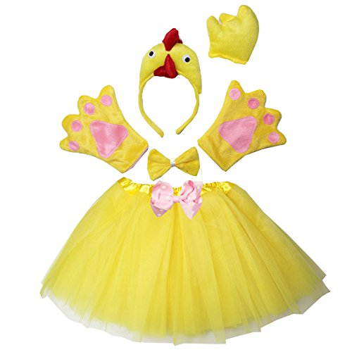 Kirei Sui Kids Chick Costume Tutu Set Yellow