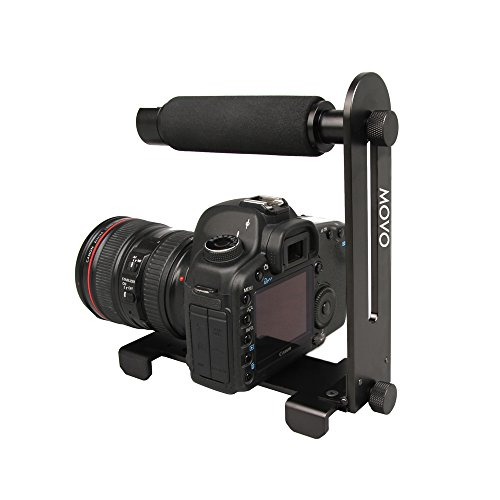 Movo Photo VH300 Collapsable Aluminum Video Stabilizer Handle for DSLR's, Mirrorless Cameras and Camcorders