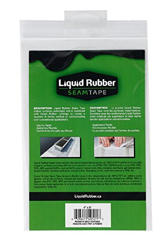 Liquid Rubber Seam Tape - Peel and Stick   Fix Leaks   Repair and Restore   Easy to Use   4 x 5
