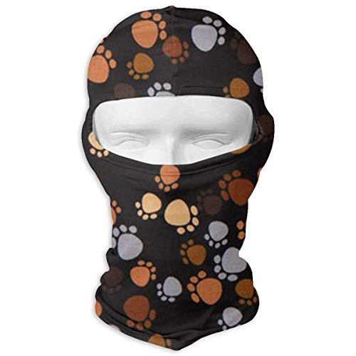 Ruin Dog Paw Prints Balaclava Face Mask for