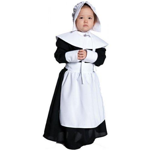 Pilgrim Girl Child Costume - (Pilgrim Costumes Set)