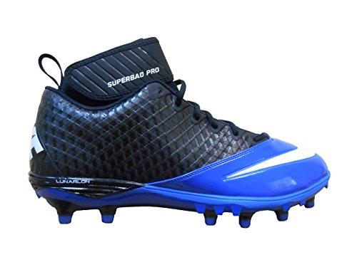 separation shoes 5672e 3ee10 Nike Lunar Super Bad Pro TD Men s Football Cleats (14, Black White-Sport  Royal)