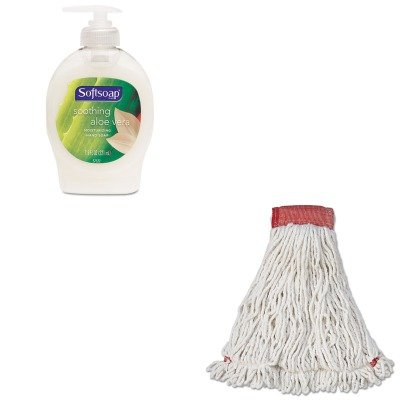 KITCPM26012EARCPA253WHI - Value Kit - Rubbermaid Web Foot Wet Mop Head (RCPA253WHI) and Softsoap Moisturizing Hand Soap w/Aloe (CPM26012EA)