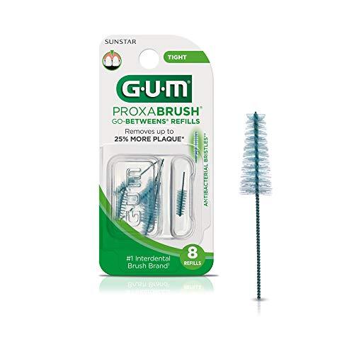 GUM – 10070942064122 Proxabrush Go-Betweens Interdental Brush Refills, Tight, 8 Count (Pack of 6)