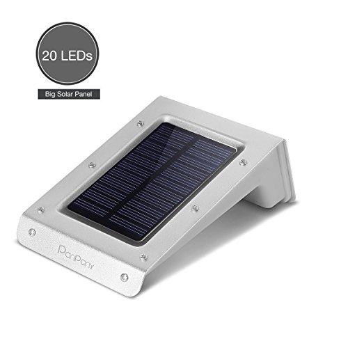 Panpany Large Panel Bright 20 LED Outdoor Solar Motion Sensor Light, Solar Powered Waterproof Long Motion Distance...