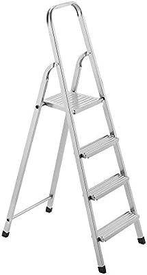 FRAMAR Facile Steel 4 Escalera doméstica de Acero, 4 Peldaños: Amazon.es: Hogar