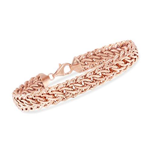 Ross-Simons 14kt Rose Gold Woven-Link Bracelet
