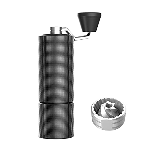 TIMEMORE Chestnut C2 Manual Coffee Grinder Capacity 25g with CNC Stainless Steel Conical Burr, Internal Adjustable Setting, Double Bearing Positioning, French Press Coffee for Hand Grinder Gift, Black