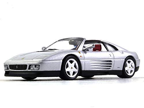 Ferrari 348 TS Silver Color 1:43 Scale Diecast Model 2-seat Sports Car 1989 ()