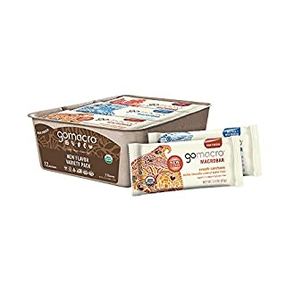 GoMacro MacroBar Organic Vegan Protein Bars - New Flavor Variety Pack (2.3 Ounce Bars, 12 Count)