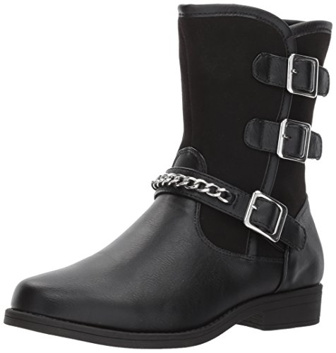 Tribeca Black Shoes - Rachel Shoes Girls' Tribeca Fashion Boot, Black Smooth, 2 M US Little Kid