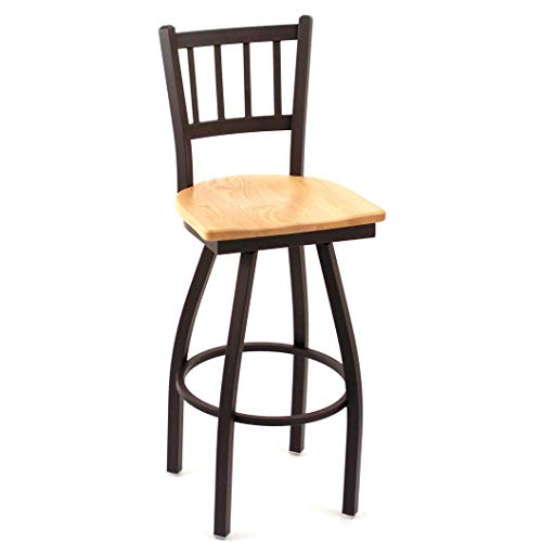 Stool Pub Natural Oak Swivel - Cambridge Natural Oak Extra Tall Vertical Slat-Back Swivel Barstool, This Barstool Also Features a 36-inch seat Height, and a 360-degree Swivel Design. Guaranteed.